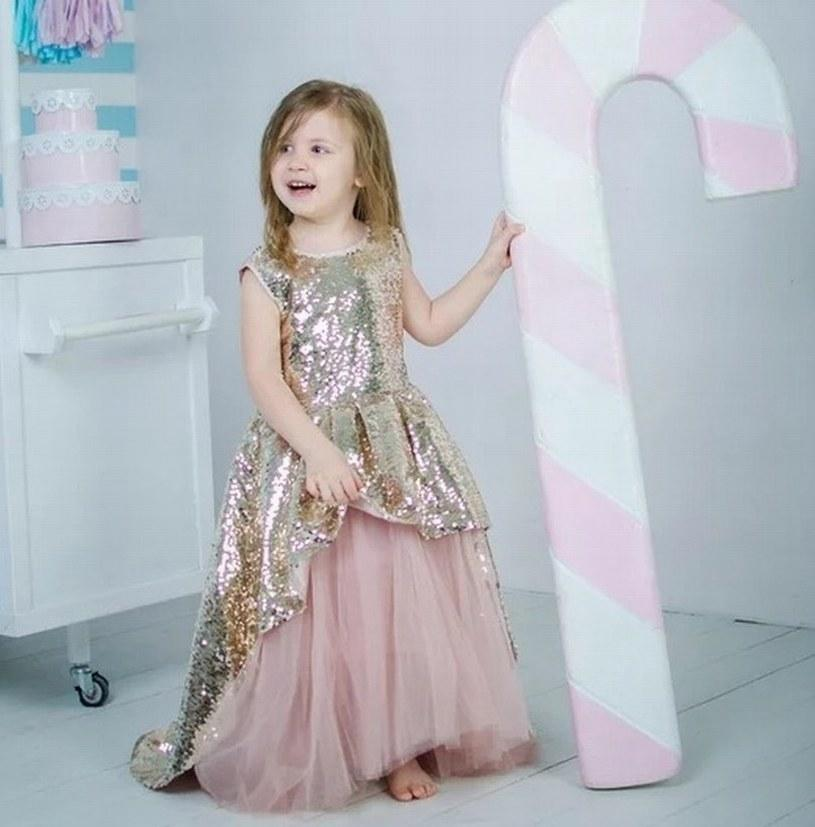 77d141cc4c New Gold Sequin Pink Tulle Princess Pageant Flower Girl Dress Kids Party  Birthday Prom Tutu Children Gown GNA27 Baptism Dresses For Infants Black  Dresses ...