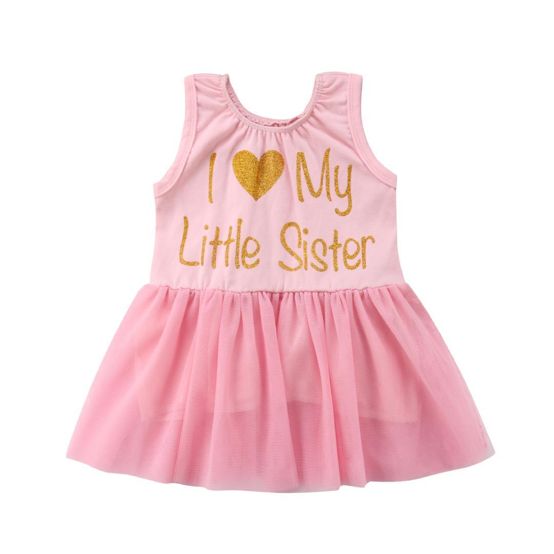 cced10d7b2ed 2019 Girls Sister Matching Clothes Kids Baby Girls Match Clothes Sleeveless  Lace Tulle Tutu Dress Outfit From Bosiju, $40.34   DHgate.Com
