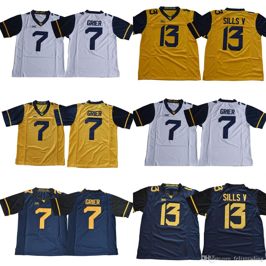 6f262a3cb 7 Will Grier West Virginia Mountaineers 13 David Sills V Blue Gold ...