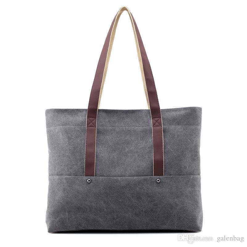 Cheap Price Beach Fresh Canvas Shoulder Bag School College Shopping