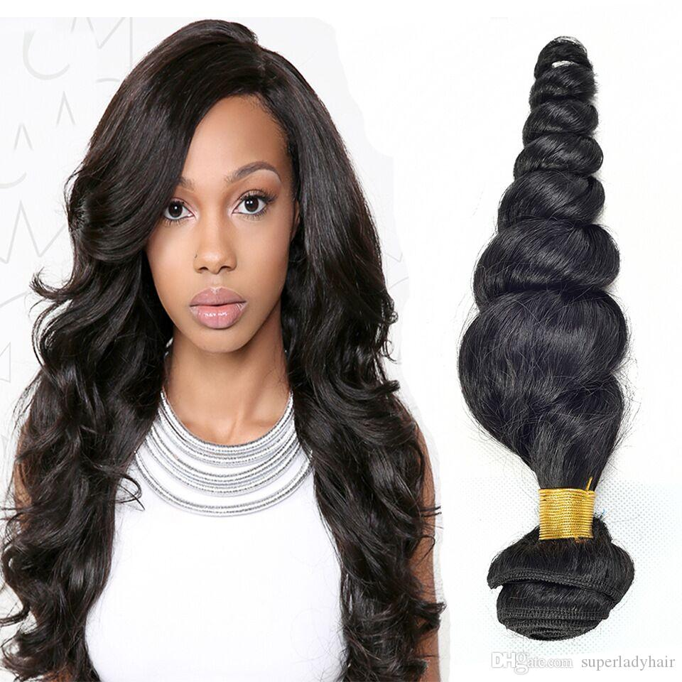 100 Real Peruvian Human Hair Extensions Hair Weaves Curly Loose