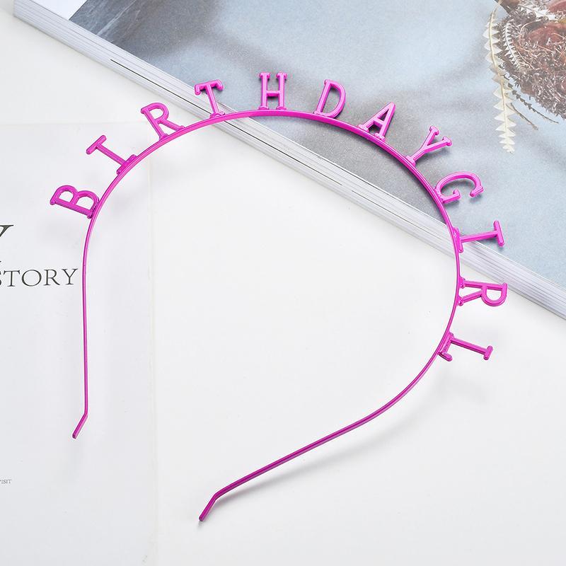 Happy BIRTHDAY Hairband Tiara Headwear Ornament Hair Accessories Fashion  Korean Women Girls Hairband Hair Accessories For Short Hair Cute Baby Girl  Hair ... 3bf92d9d5ba