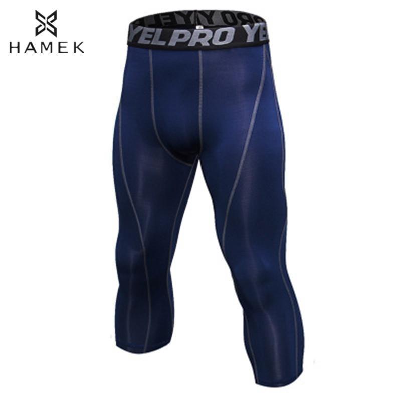3b6145c85c 2019 Men 3/4 Compression Running Tights Sports Skins Running Pants Fitness  Gym Yoga Basketball Training Tight Athletic Leggings From Pineappleg, ...