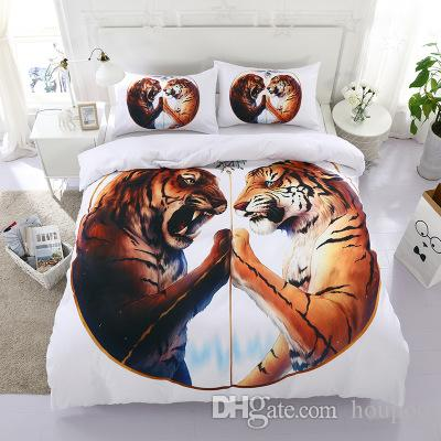 Wholesale 5 Styles Symmetrical Animal 3D Printed Twin~King Size Bedding Sets Bed Sheets Queen Bedding Sets King Size Comforter Set