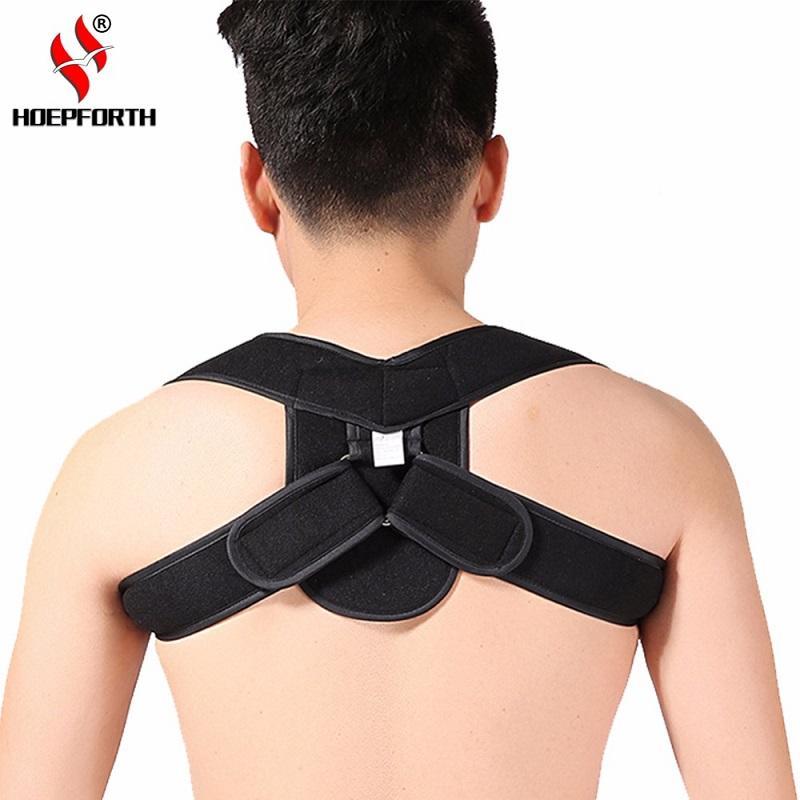 905e85c2346ca Adjustable Upper Back Shoulder Support Posture Corrector Adult Children  Corset Spine Brace Back Belt Orthotics Back Support Back Shoulder Support  Belt ...