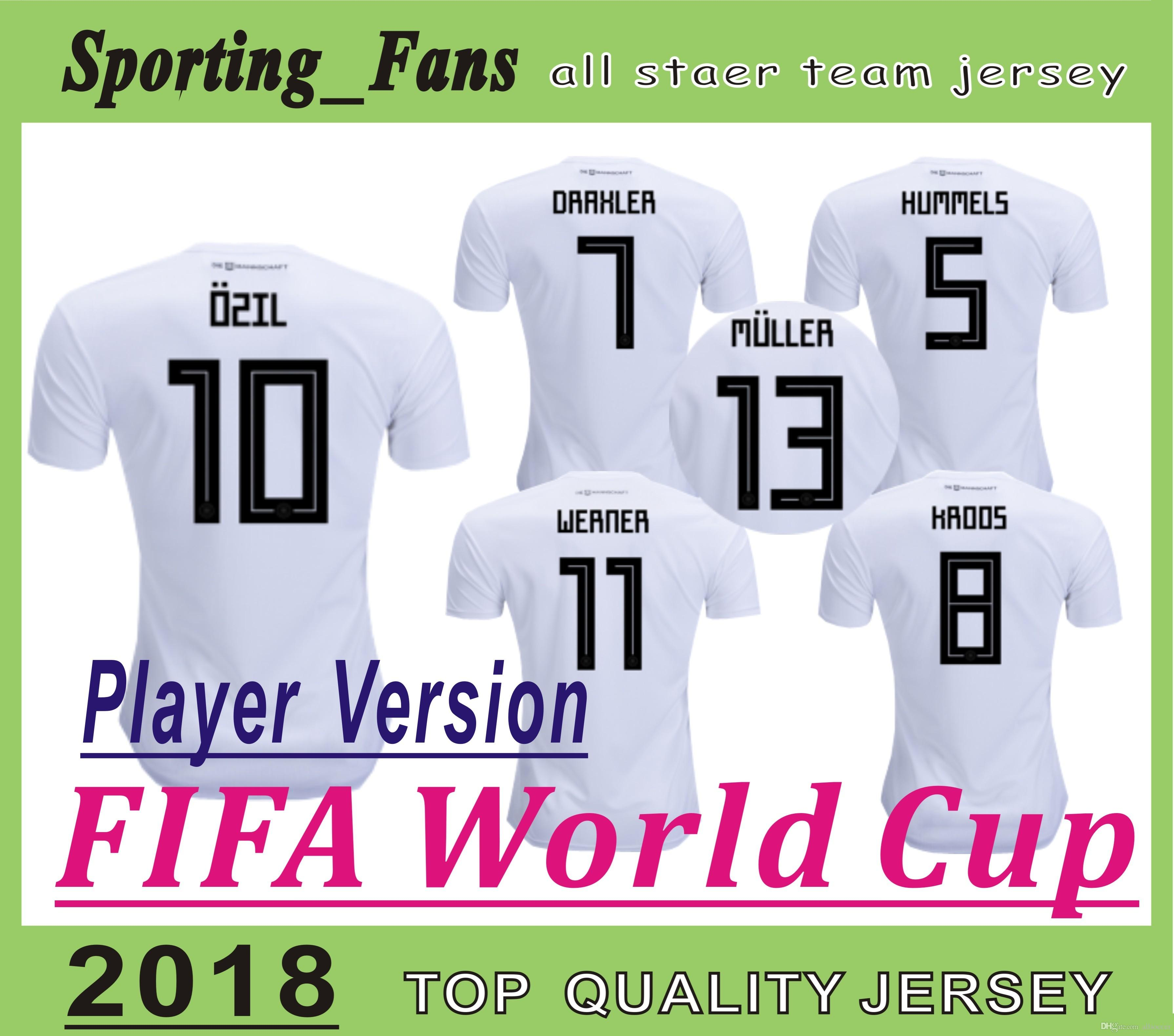 on sale c21d9 cc6ca player version 2018 world cup JERSEYS Football jerseys Hummels Leon  Goretzka Julian Draxler Thomas Muller Toni Kroos Mesut Ozil Timo Werner