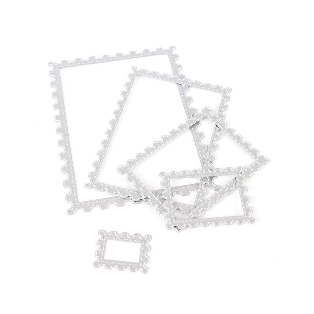 5Pcs Rectangle Frame Set Metal Steel Cutting Dies For DIY Scrapbooking Album Paper Card Photo Decorative Craft Stencil