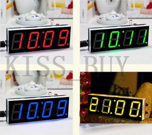 Freeshipping DIY kits Digital LED Clock Electronic Microcontroller time  Large Screen display Clock