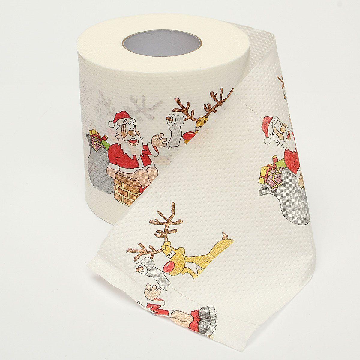 New Hot Fashion Santa Claus Printed Merry Christmas Toilet Roll ...