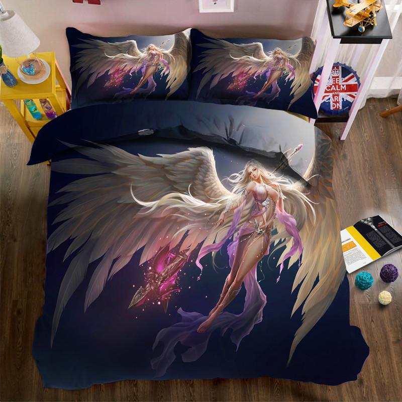 4/Luxury Bedding Set 3d Digital Printing Girls Duvet Cover Sets Us Size  Super King Bed Linen Bedclothes King Comforter Sets Purple Bedding From  Shutie, ...