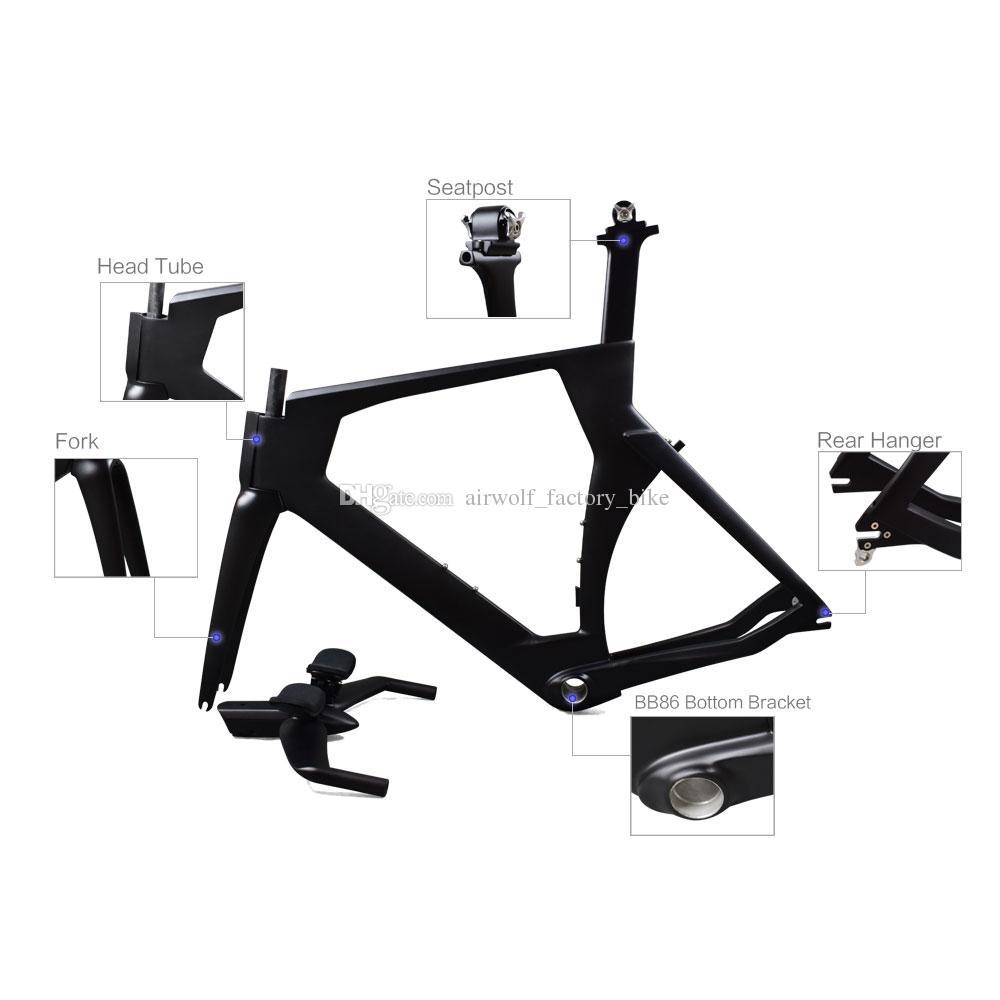 3055baa605e Full Carbon Fiber Tt Frame,Popular Selling 3K BB86 Carbon Time Trial Frame,S/M/L  Triathlon Carbon Bicycle Frame Custom Bike Frame Folding Bike Frame From ...