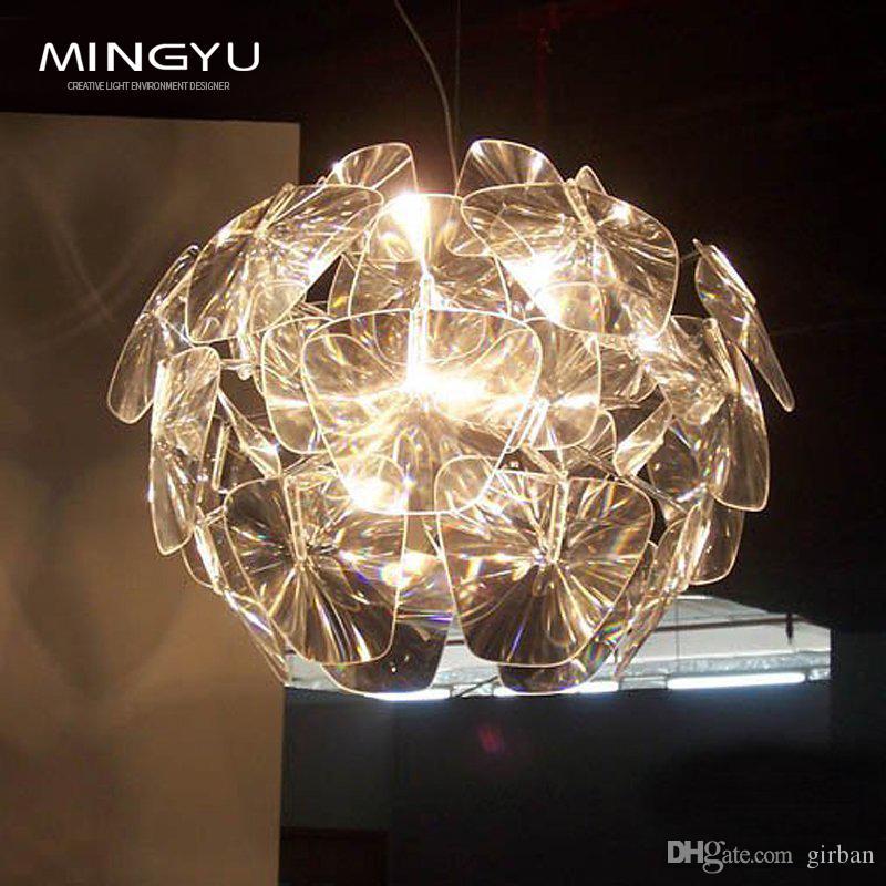Moderno Laser Lámpara colgante Milan Design Hope lámpara de suspensión Lámpara de acrílico creativo accesorio de iluminación envío gratis
