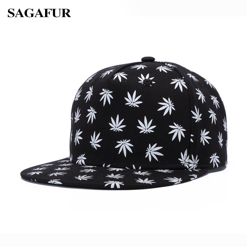 c2678599bdd Boy s Cap For Girls Cotton Printed Leaves Dad Hat Fashion Accessory Casual  Snapback Outdoor Summer Baseball Cap Women Men Leather Hats The Game Hats  From ...