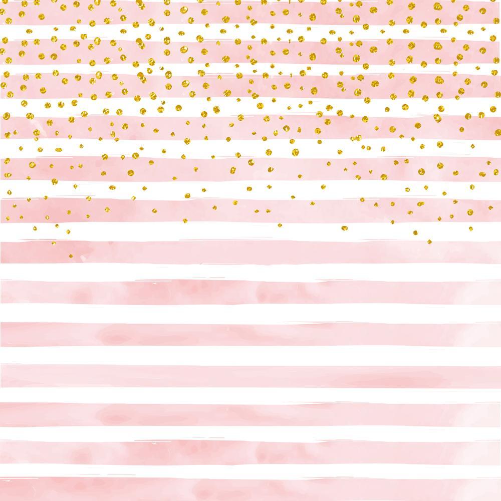 Acquista Strisce Rosa Con Bokeh Oro Fotografia Sfondo Baby Shower