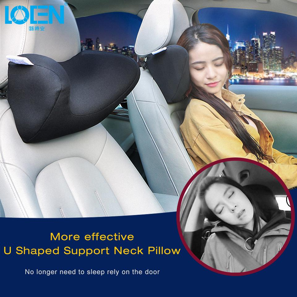 Neck Pillow 1pcs Car Headrest Neck Pillow For Seat Chair In Auto Memory Foam Cotton Mesh Cushion Fabric Cover Soft Head Rest Travel Support Customers First