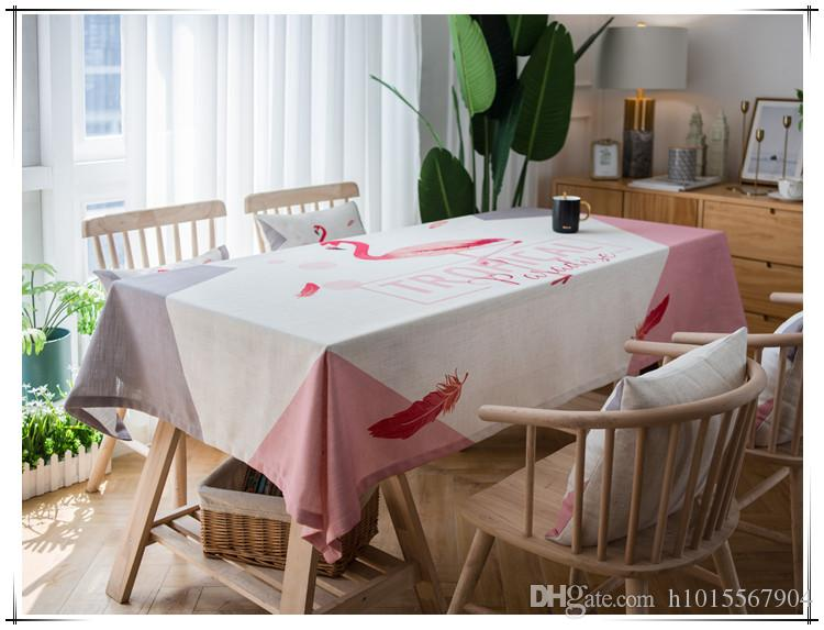 The New Figures Printed In 2018 Are Polyester Waterproofing Pink Cartoon  Creative Flamingos 140cm * 180cm Long Tablecloth Tablecloth Tablecloths For  Less ...