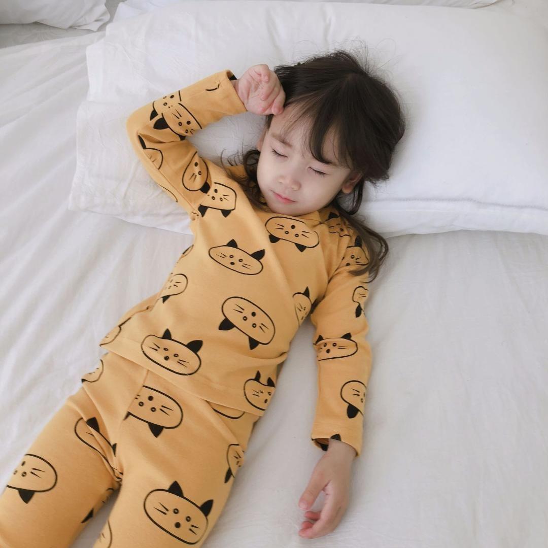 7473477f84ff Baby Girl Clothes Toddler Cartoon Printed Pajama Sets Cotton Soft Home  Clothing For Girls Kids Autumn Winter Sleepwear Nightwear Xmas Pjs Kids Kids  Cotton ...
