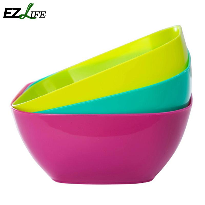 Food Grade Plastic Square Salad Bowl Fruit Plate Fruit Plate Seeds Small Snack Candy Dish Dried Fruit Bowls Kt0704