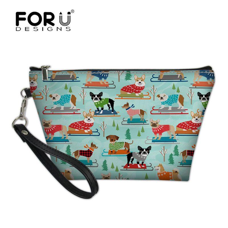 Großhandel Forudesigns Rodeln Hunde Printed Travel Kosmetiktasche ...