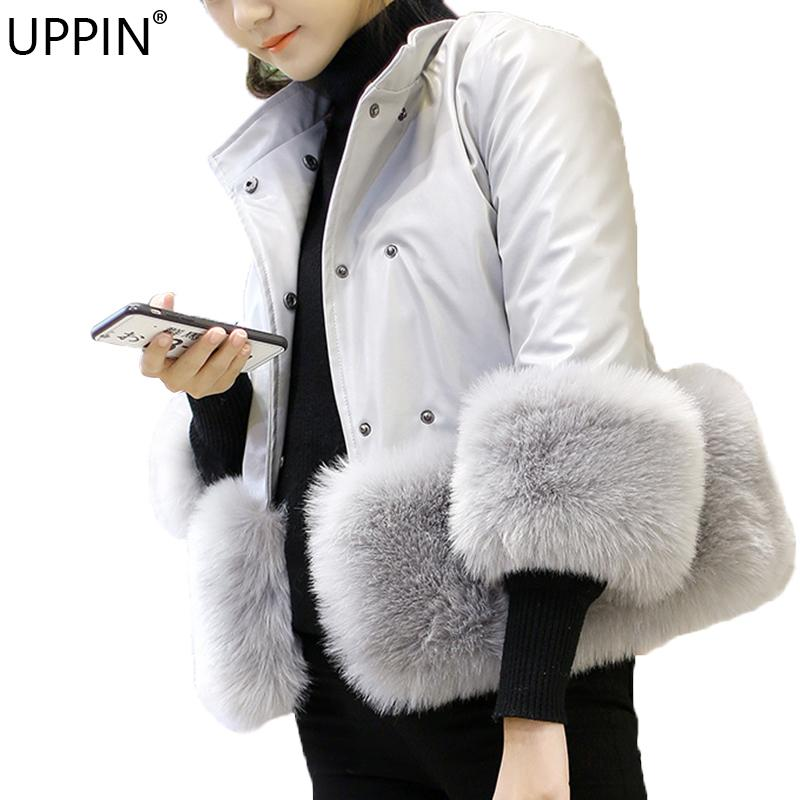 188e482b920 UPPIN 2018 Luxury Women Fur Jacket Winter PU Leather Warm Coat Thick Faux  Fox Fur Parkas Pink Pu Leather Outwear Female Fur Coat C18111501 UK 2019  From ...