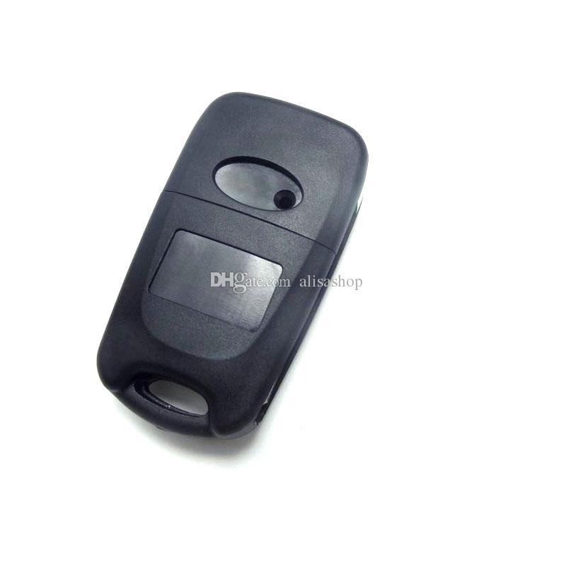 Lâmina sem cortes 3 Botões Virar Remoto Chave Shell Para Kia K2 K5 Hyundai Kia Chaves Do Carro Em Branco Caso Capa Com Hyudai LOGOTIPO