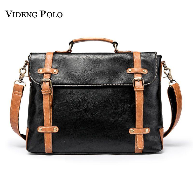 673e2b8da0e1 VIDENG POLO Men S Brand Casual Messenger Bag Leather Crossbody Shoulder  Bags Large Capacity Business Briefcases Homme Sacoche Womens Purses Evening  Bags ...