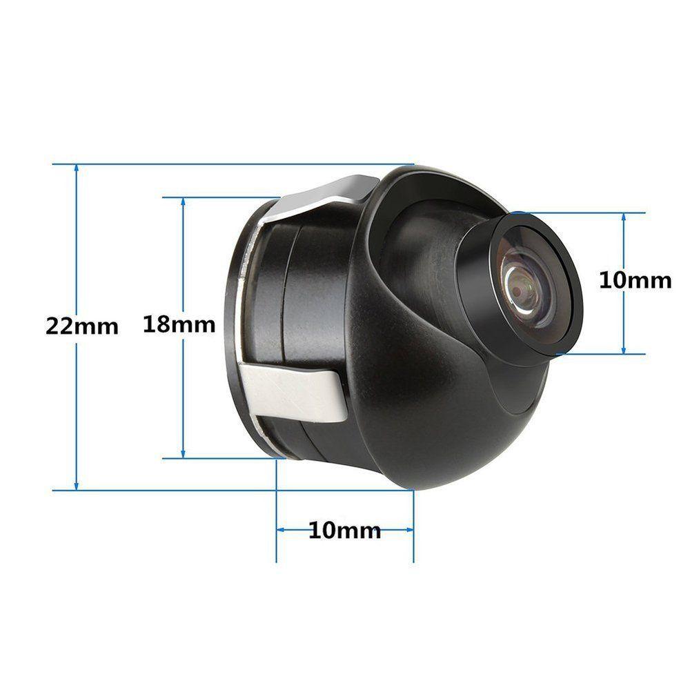 6. Su geçirmez HD Arka Araba Dikiz Kameraları Ters 360 derece aralığı 170 derece geniş açı Gece Görüş Yedekleme Park Kamera Siyah