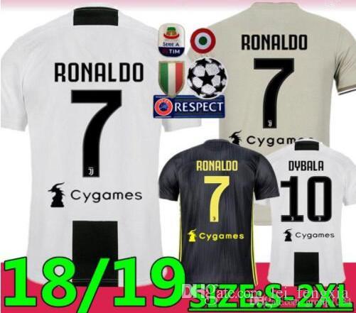 685786b68 18 19 New Juventus RONALDO Soccer Jersey Home Third DYBALA BONUCCI MATUIDI  Shirt MARCHISIO MANDZUKIC PJANIC Football Uniform Away Jersey Online with  ...