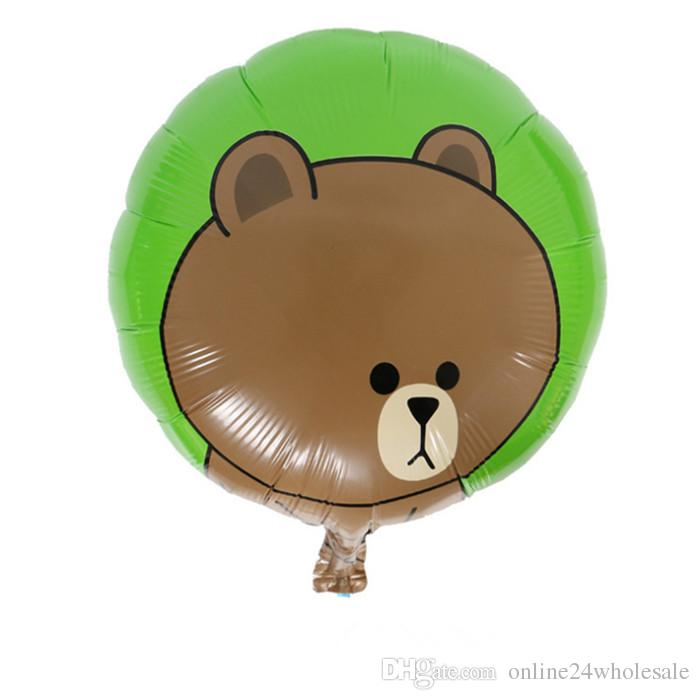 Creative Cartoon Football Bear Frog And Duck Balloons Foil Balloon for Decoration Kids Birthday Christmas Party Supplies Factory Wholesale