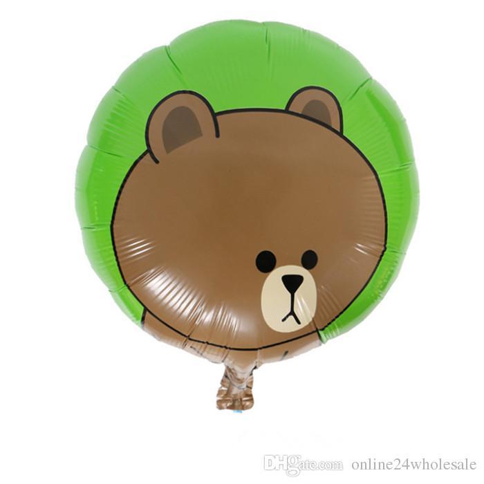 Palloncino di stoffa creativa di Cartoon Bear Rana e anatra palloncini di stagnola la decorazione Bambini Compleanno rifornimenti di festa di Natale all'ingrosso della fabbrica