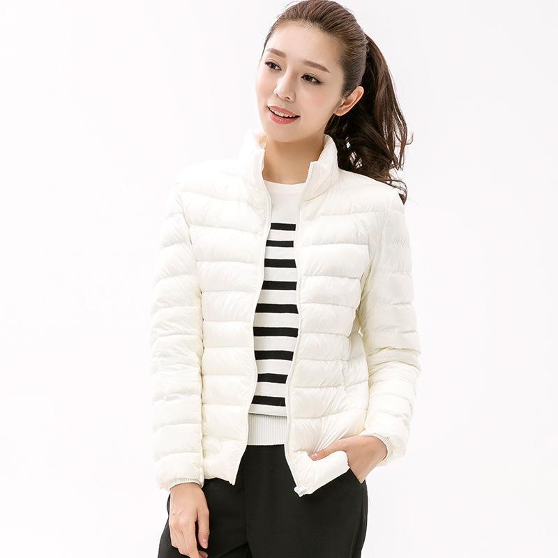 68b59d2232b 2019 Women Winter Coat Stand Collar Ultra Light White Duck Down Jacket Slim  Women Puffer Jacket Portable Windproof Down Coat JK 704 From Top666, ...