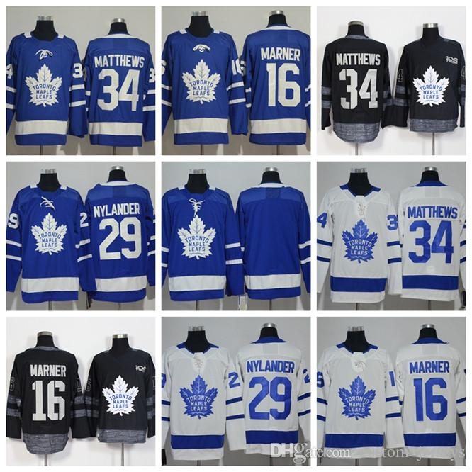 competitive price f5a57 9281d 2018 Toronto Maple Leafs jersey 34 Auston Matthews 29 William Nylander 16  Mitch Marner Hockey Jerseys