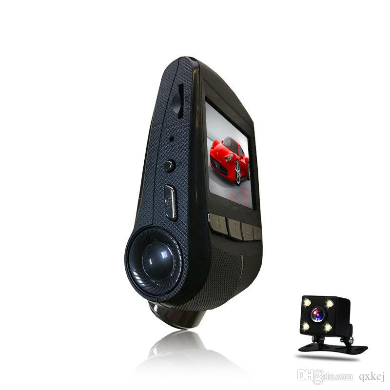 New arrival Hidden WIFI driving recorder car dvr with double lens 24 hours parking monitoring