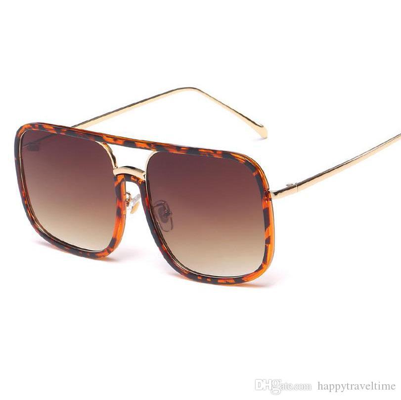 8523db162e Compre Moda Para Mujer Para Hombre Gafas De Sol De Gran Tamaño Cuadrado  Gafas De Sol Sombra UV400 A $7.52 Del Happytraveltime | DHgate.Com