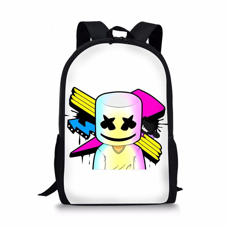 29ca668069 Marshmello Backpack Kids Boys Girls Children School Bags Travel Shoulder  Bag Rugzak Girl Backpack School Book Bag Unisex Bags Womens Backpacks Pink  ...