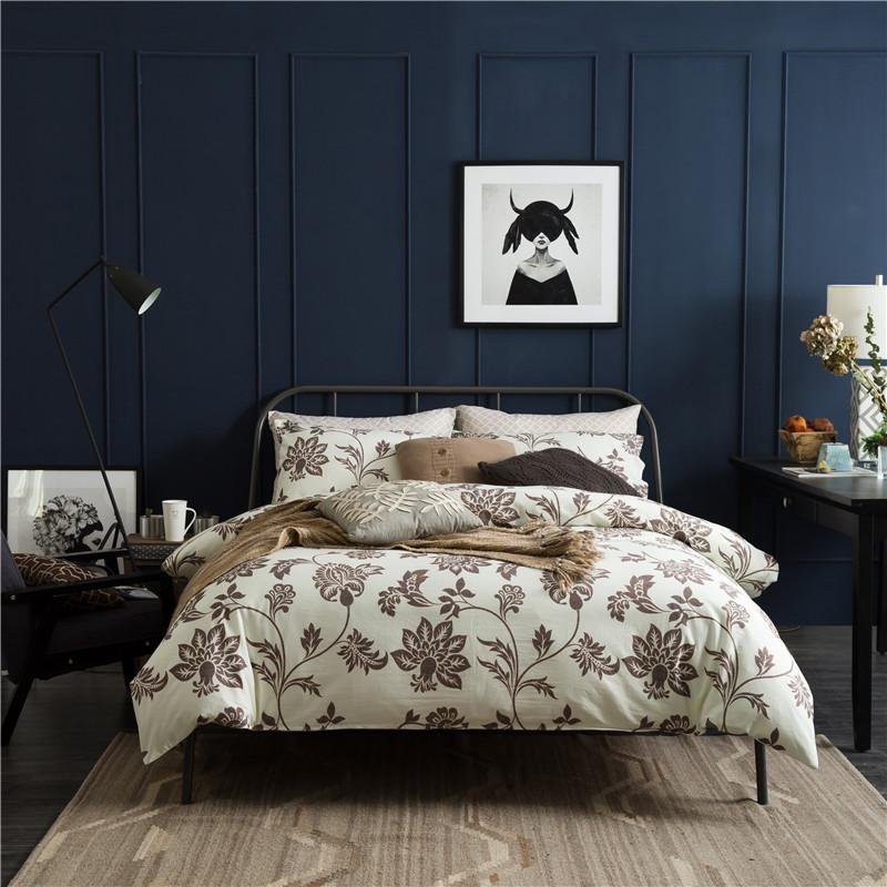 2017 Washed Cotton Super Soft Bedding Set King Queen Size Bed Quilt Cover  Set Flowers Printed Bed Sheet Pillow Shams Bedroom Blanket Sets Linens  Bedding ...