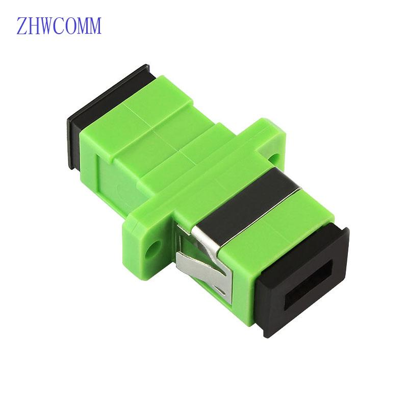 ZHWCOMM 200PCS SC APC Simplex fiber optic adapter High quality SC Optical fiber coupler flange Free Shipping