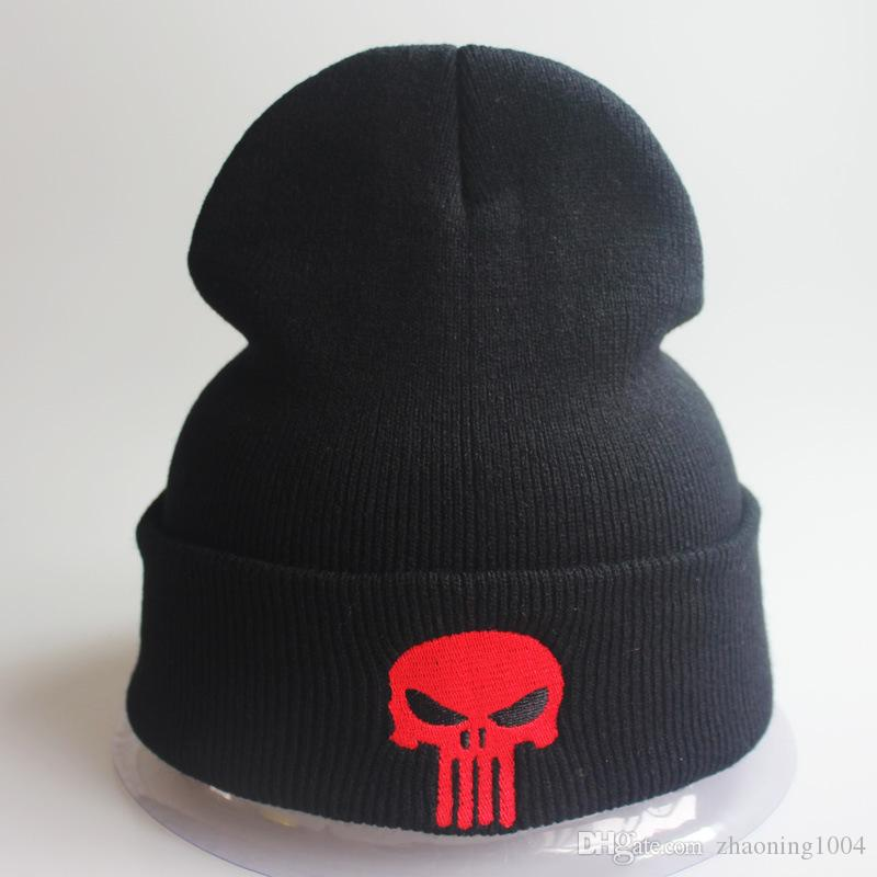 9f50b4b0 Designer Skull Embroidery Beanies Hats Man Woman Hip Hop Acrylic ...