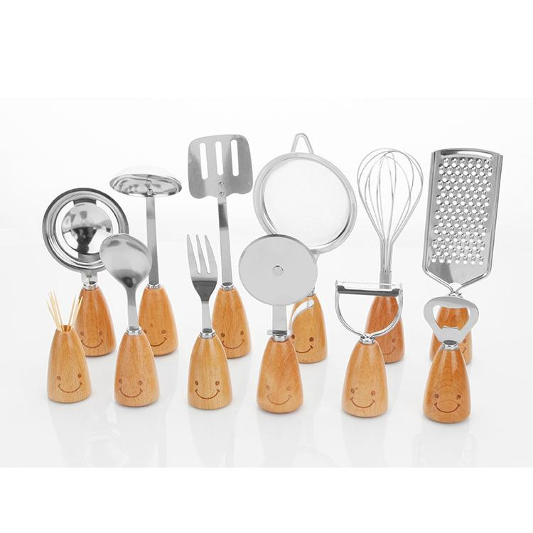 Smiling Face Stainless Steel Cooking Tools Kitchen Utensils Set With ...