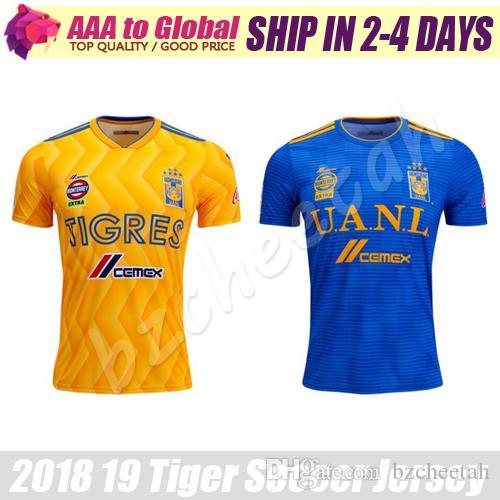 quality design e0920 80318 Mexico UANL Tigres Soccer jersey 2019 Survetement 6 Stars Gignac Vargas  jersey football shirt Camiseta de futbol