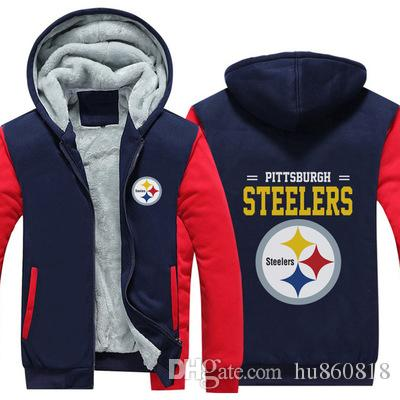 481468b15 2019 Pittsburgh Steelers Team Sweatshirt Warm Fleece Thicken Jacket Zipper  Coat Hoodie & Sweatshirts Up To Date Jackets From Hu860818, $33.51 |  DHgate.Com