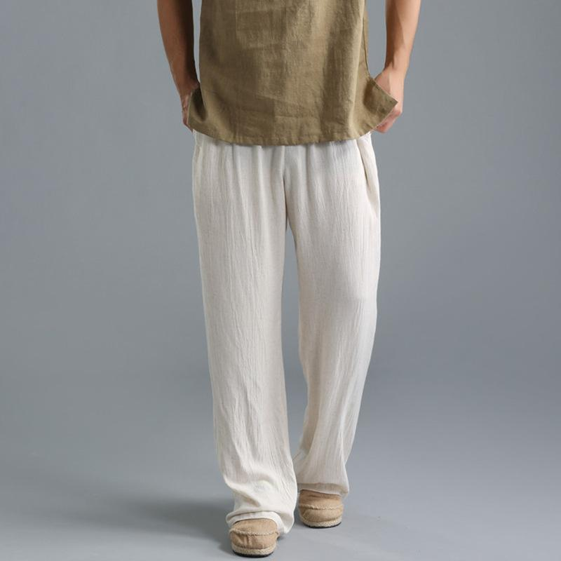 5f76e269508 2019 2017 Chinese Style Linen Casual Pants Male Summer Fluid Trousers Ultra  Thin Breathable Thin Loose Plus Size Beach Pants From Missher, $45.63 |  DHgate.