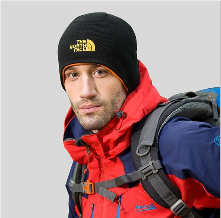 692454ec2 Unisex Brand NF Hat The North Reversible Beanie Winter warm Men Women Skull  Caps Face Outdoor Skiing Snood Hats Warm Hip Hop Cap Ear Muff