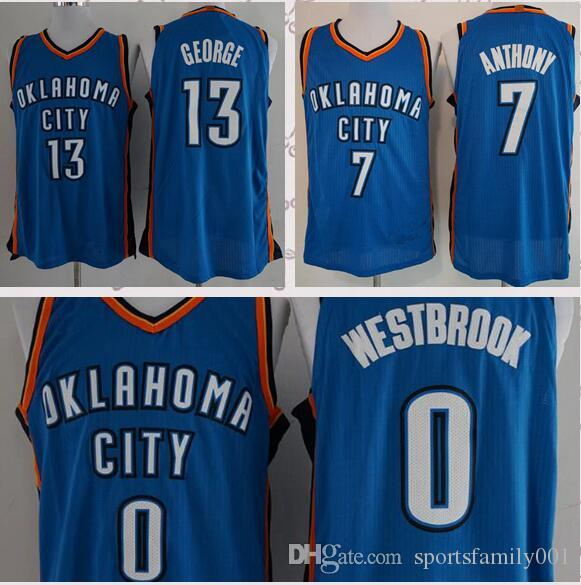 17866fe911eb 2019 Men S Oklahoma City 13 Paul George 0 Russell Westbrook Jersey 2018 New  Basketball Jerseys Stitched Jerseys From Poloshirtss