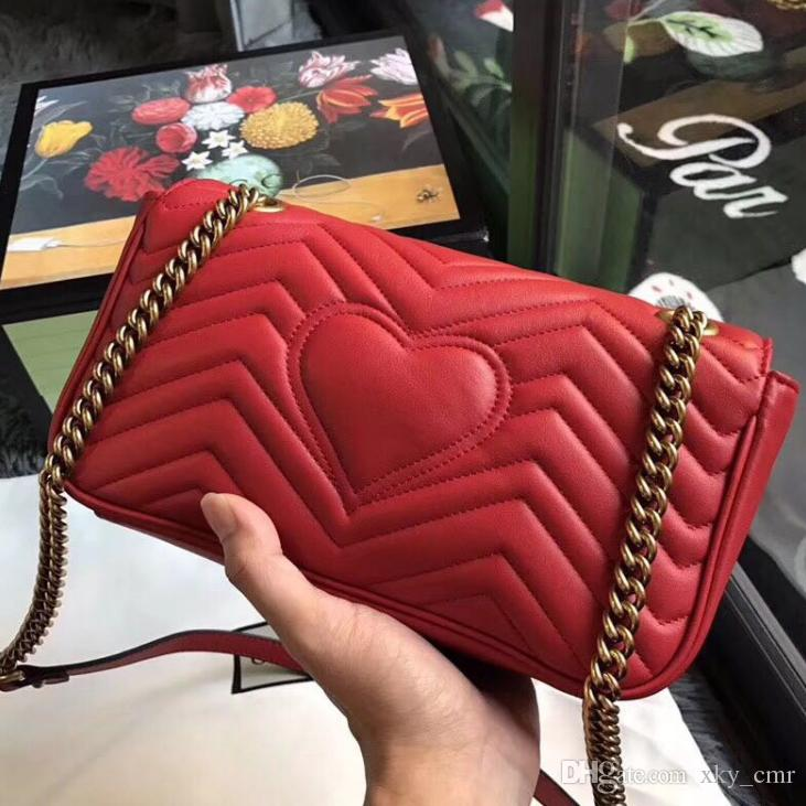 Marmont Shoulder Bags Women Luxury Brand Real Leather Chain ... 64a274d244f0c