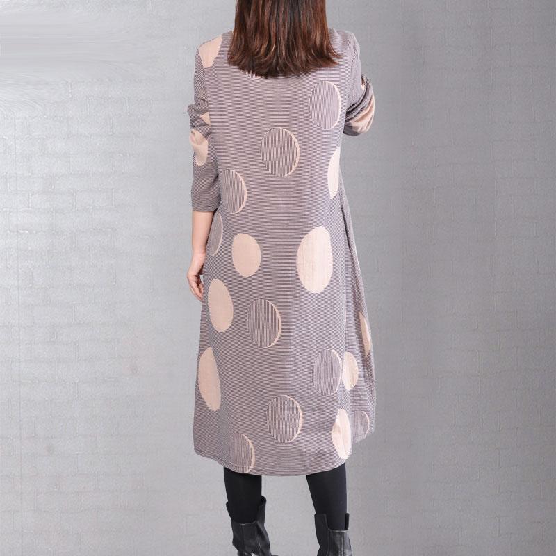 New Korea Loose Women's Clothing Vintage Loose Artistic Women Dresses Ethnic Style Dress