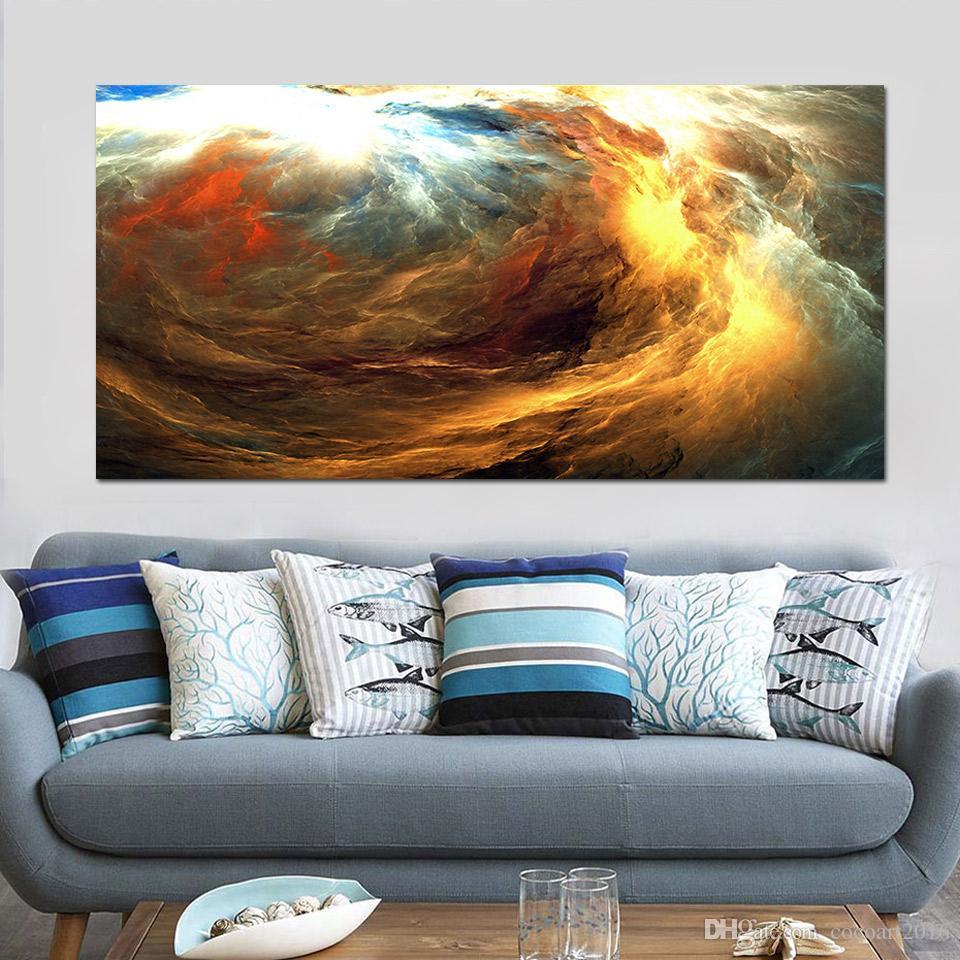 Satın Al 1 Parça Renkli Bulutlar Yıldırım Gökyüzü Tuval Baskılar