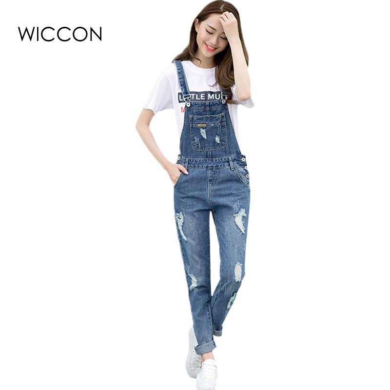 d9949d0b4d9 Spring Fashion Ripped Jeans Jumpsuits Ladies Girls Long Pants Casual Women  Rompers Bib Overalls Suspenders Jumpsuit Online with  41.7 Piece on  Wangleme011 s ...