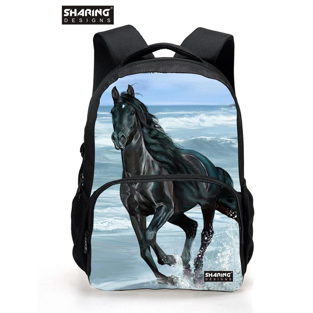 Large Children Animal Horse School Bag For Teenager Boys Girls Cool Dog  Lion Schoolbag For Kids Fashion Men S Travel Backbag Style Backpacks Army  Backpack ... 40907ba3c3f43