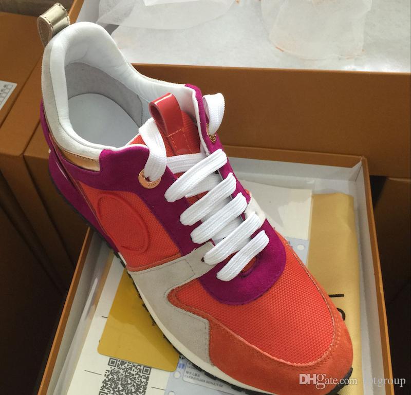 NOVO executando o tênis Homem Mulher Sapatos de couro de malha de várias cores instrutor Runner formadores Sapatos calçados esportivos tamanho US 4-11